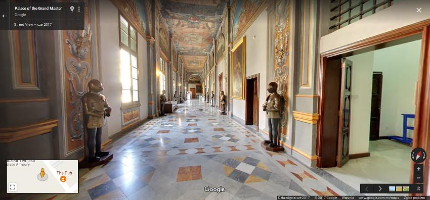 Pałac Wielkiego Mistrza w usłudze GoogleStreet View