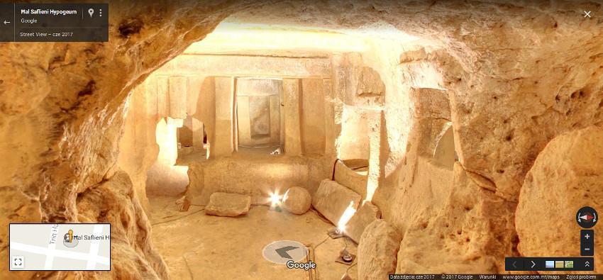 Hypogeum Ħal Saflieni w usłudze Google Street View